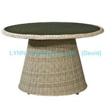 Mobiliário de jardim Mesa de jantar Mesa de rattan ao ar livre