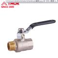Internal and external thread nickel plated brass ball valve Dn20