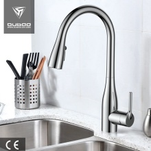 Long Neck Kitchen Sink Faucet With Pull Sprayer