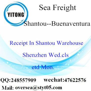 Shantou Port LCL Consolidation To Buenaventura