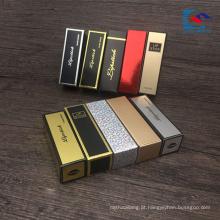 caixas de batom de embalagens de cosméticos de luxo ouro e prata estampagem