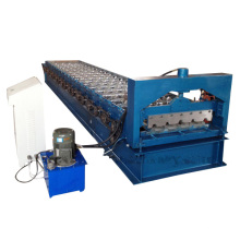 Máquina de laminação de rolo de painel de telhado de aço galvanizado Ibr