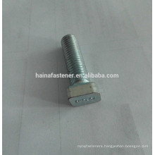 rhombus head T type bolt, zinc plated T-shaped bolt, customized T bolts