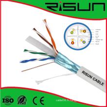 Câble CAT6 blindé par câble blindé de paire torsadée de haute qualité