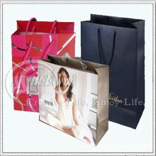 Saco de compras de papel para roupas (KG-PB049)