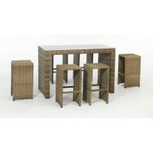 Garten Terrasse Rattan Peddigrohr Outdoor Bar Stuhl Set