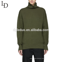 Latest design oversized pullover turtleneck wool sweater for men