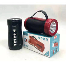 Original WSTER WS2916 Support USB TF CARD FM RADIO With Torch Studio Speakers Bass Led Speaker