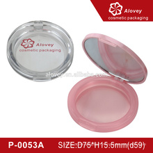 Étui en plastique compact en poudre avec miroir