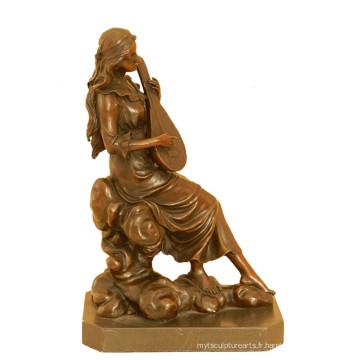 Musique Déco En Laiton Statue Classique Joueur Sculpture En Bronze Sculpture Tpy-990