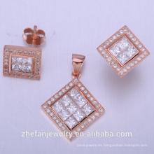 establecer joyas collar accesorios de la boda