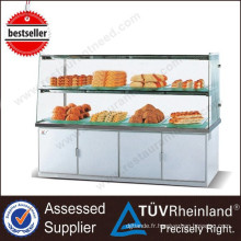 Équipement de boulangerie pour l'étalage d'affichage de boulangerie de côté simple de 2 couches Restautant