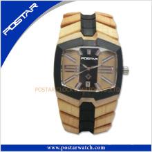 Venta caliente 2016 reloj de regalo de madera relojes de pulsera de ocio para hombre de la nueva llegada