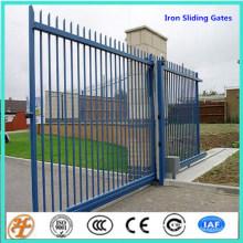 дизайн просторной железного забора откатные ворота