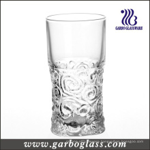 9oz Embossed Design Glass Tumbler (GB040109G)