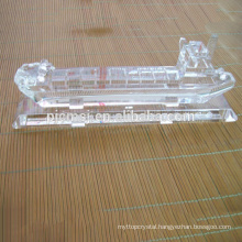 Custiomize crystal cruise ship model for souvenir