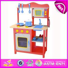 2014 nouvelle cuisine en bois de jeu, jouet populaire enfants jouent cuisine, vente chaude enfants mis enfants jouent cuisine usine W10c045r