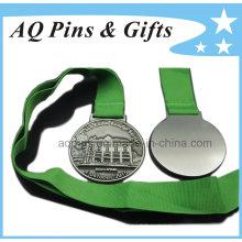Высокое качество 3D медаль с зеленой лентой
