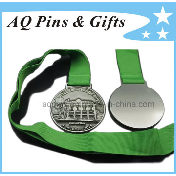 High Quality 3D Medal with Green Ribbon