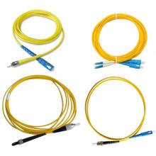 Cabo de remendo da fibra óptica com os conectores de Sc / FC / St / LC / DIN