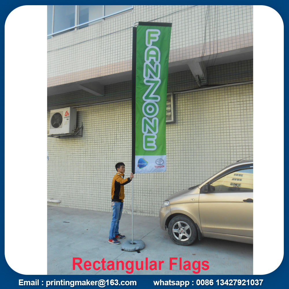 rectangular flags banners