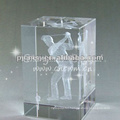 High Grade Laser Crystal Glass Cube For Home decoration