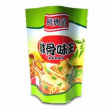 Standup Sachet for Sauce, Non-benzene Printing, Flexible Film and Plastic Packing Bag