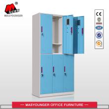 Cerradura digital 6 puertas azul armarios acero
