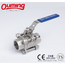 3PC M3 Stainless Steel Ball Valve with Handle