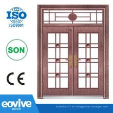 hierro forjado puertas de doble entrada