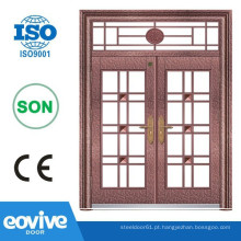 portas de ferro forjado dupla entrada frontal