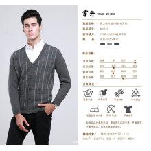 Yak laine / cachemire col v pull à manches longues pull / vêtements / vêtement / tricots