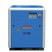 Compresor de tornillo refrigerado por aire estacionario de agosto de 7.5kw / 10HP