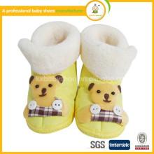 2015 new desigh wholesale cute plush sheepskin babyboots for kid
