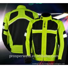 Alta calidad de la visibilidad De la motocicleta que conduce chaleco reflexivo de la ropa de la chaqueta de seguridad con EN20471 y CE estándar