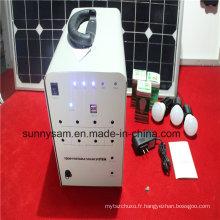 Système d'éclairage d'énergie solaire de 100W pour l'usage à la maison d'urgence