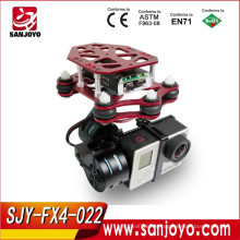 Free X High Quality CNC Brushless Gimbal Camera Mount with Motor & Controller FPV PTZ for Gopro3 3+ DJI Phantom