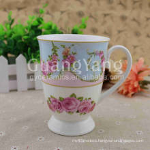 Different Color Available Hot Sale Porcelain Horn Mug