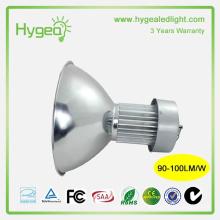 Alta potência luz de baía alta conduzida 100W Garantia de 3 anos industrial conduziu o dispositivo elétrico de luz elevado da baía