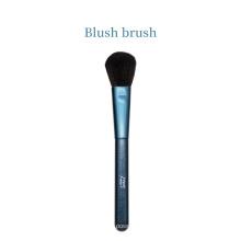 Cepillo de rubor de etiqueta privada con cara de brillo azul único