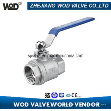 1000 Wog Ss304 Two PC Ball Valve