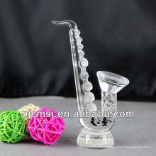 Saxophone en cristal en gros pour des souvenirs