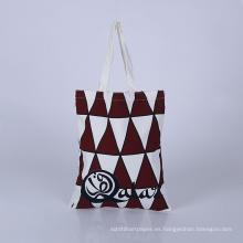 bolso de algodón de la bolsa de asas cosmética de algodón en blanco bolso de algodón recubierto de pvc de la bolsa de asas