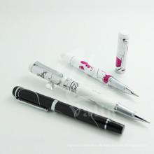 Einzigartiges Design Metall Logo Design Stift Silk-Screen Werbe-Stift
