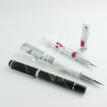 Design exclusivo de metal Logo Design Pen Silk-Screen Pen promocional