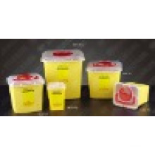 CE e FDA Certificados descartáveis Sharps Container Plastic
