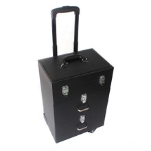 Professional Beauty Case Black Cosmetic