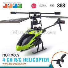 Feilun FX069 2.4G 4ch seis ejes control pequeño helicóptero del girocompás rc para el certificado de CE/FCC/ASTM venta