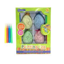 Colouring easter egg wrap colgante