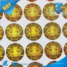3d holograma de seguridad láser / pegatinas de seguridad etiquetas de lámina / Hacer la etiqueta engomada de Holgoram